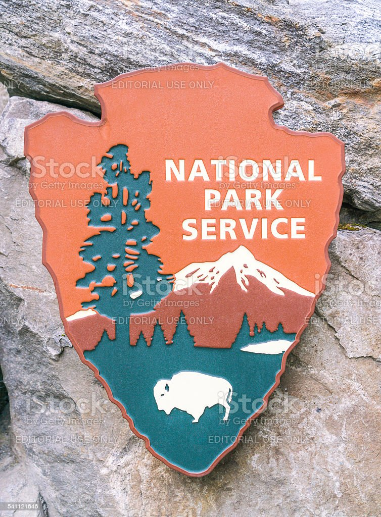National park sign. stock photo