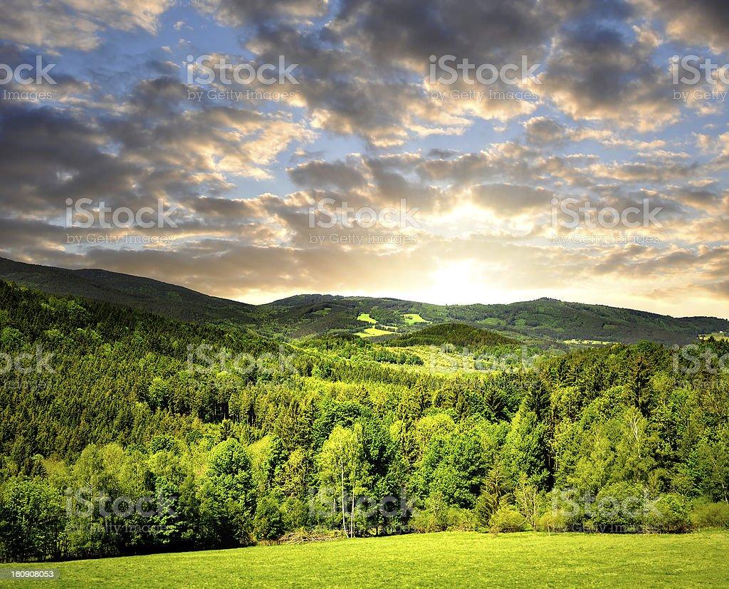 national park Sumava royalty-free stock photo