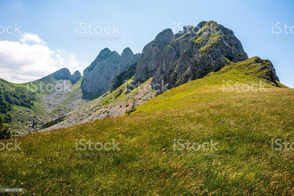 National Park Sutjeska, Mountain peek 'Plece' Bosnia and Herzegovina stock photo