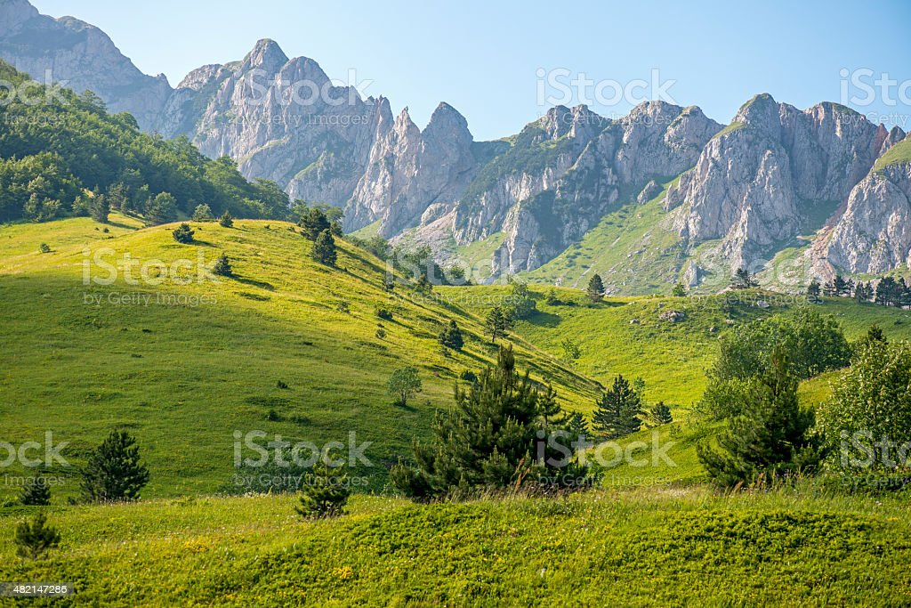 National Park Sutjeska, Mountain peek 'Plece' Bosnia and Herzegovina stock photo
