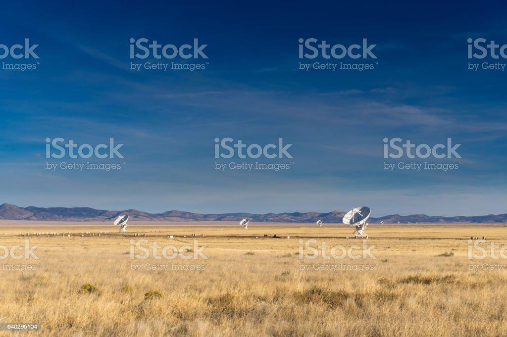 National Radio Astronomy Observatory Telescopes in NM stock photo