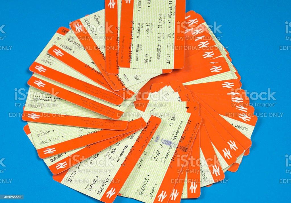 National Rail tickets - British travel stock photo