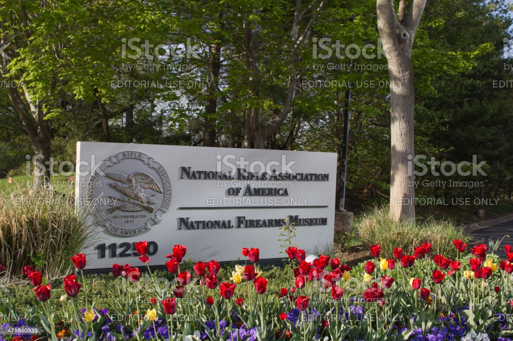 National Rifle Association Headquarters Sign royalty-free stock photo