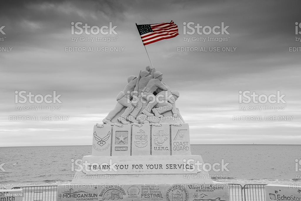 National Sand Sculpting Festival at Revere Beach stock photo