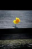 National September 11 Memorial Inscriptions & Flower, Ground Zero, NYC
