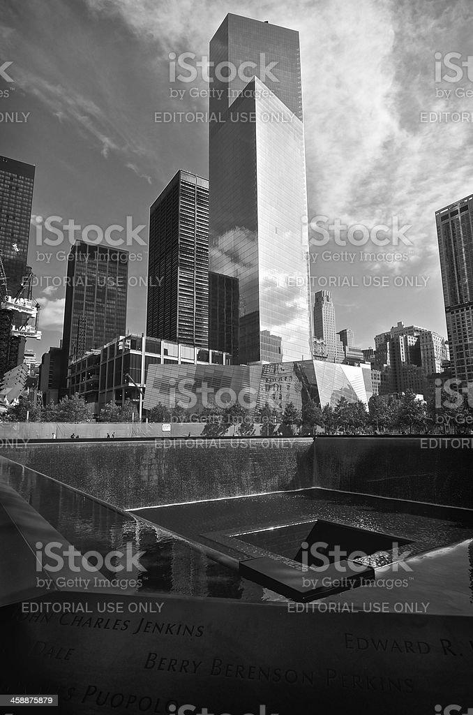 National September 11 Memorial North Reflecting Pool, Ground Zero, NYC stock photo