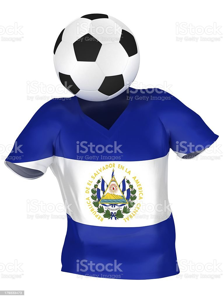 National Soccer Team of El Salvador royalty-free stock photo