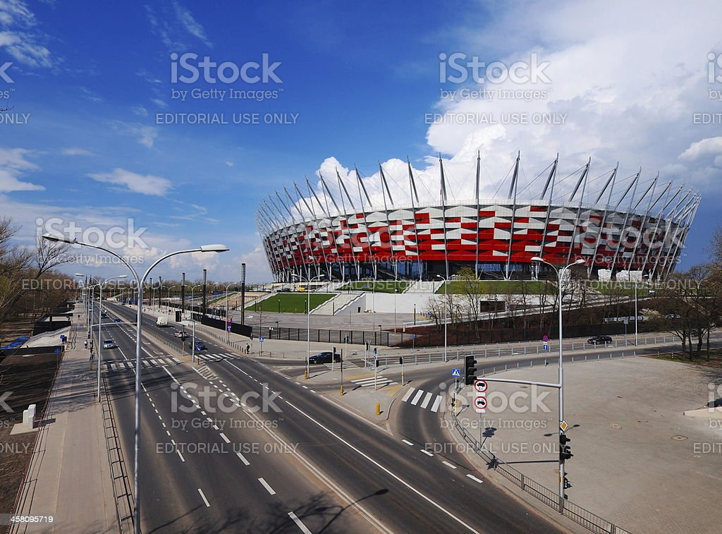 National Stadium in Warsaw, Poland royalty-free stock photo