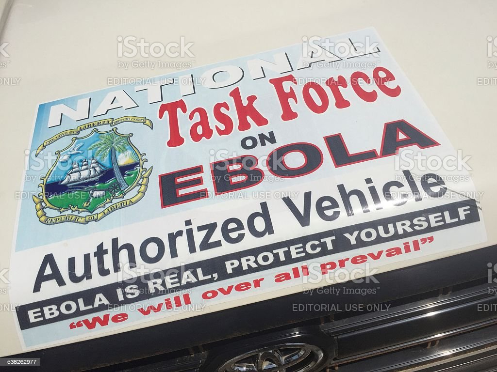 National Task Force on Ebola sticker stock photo