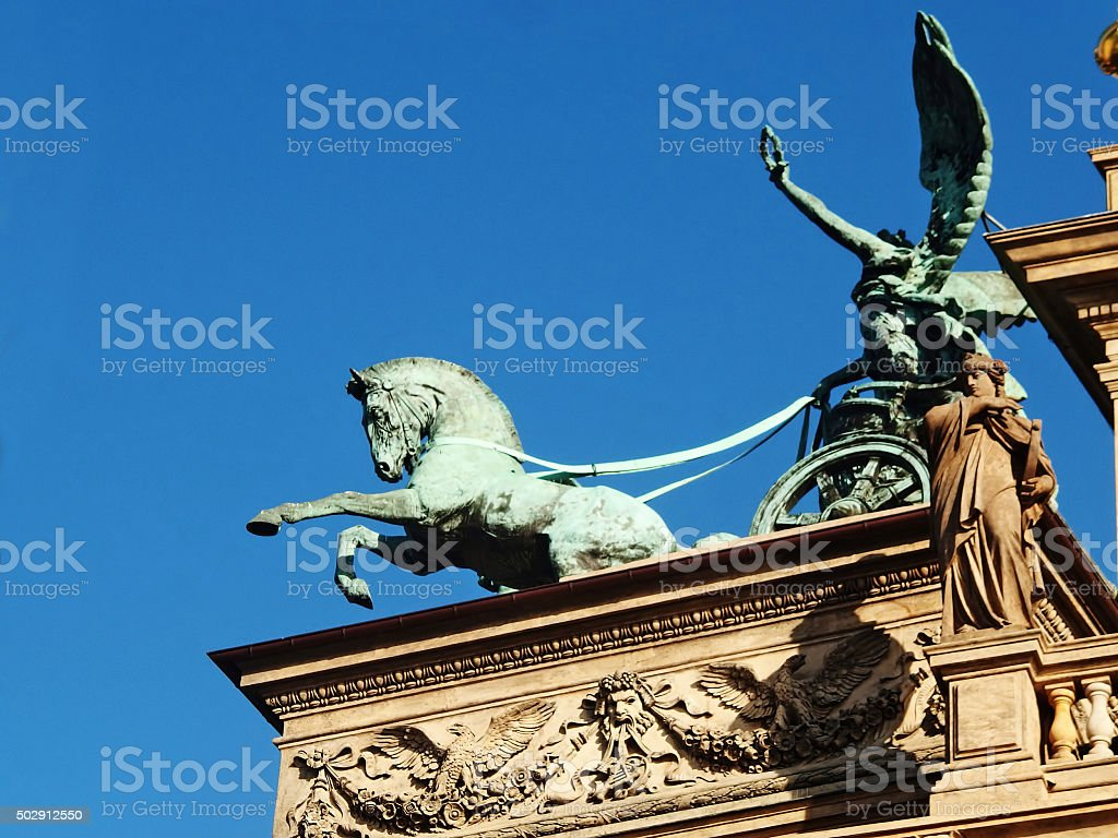 National Theater in Prague stock photo