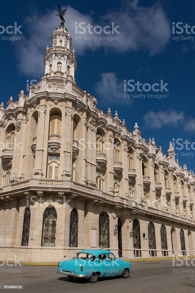 National Theater of Cuba stock photo