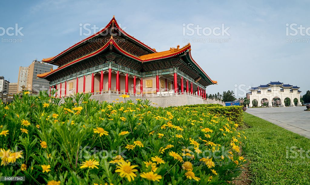 National Theatre and Concert Hall in Taipei stock photo