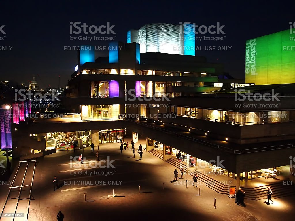 National Theatre at Night stock photo