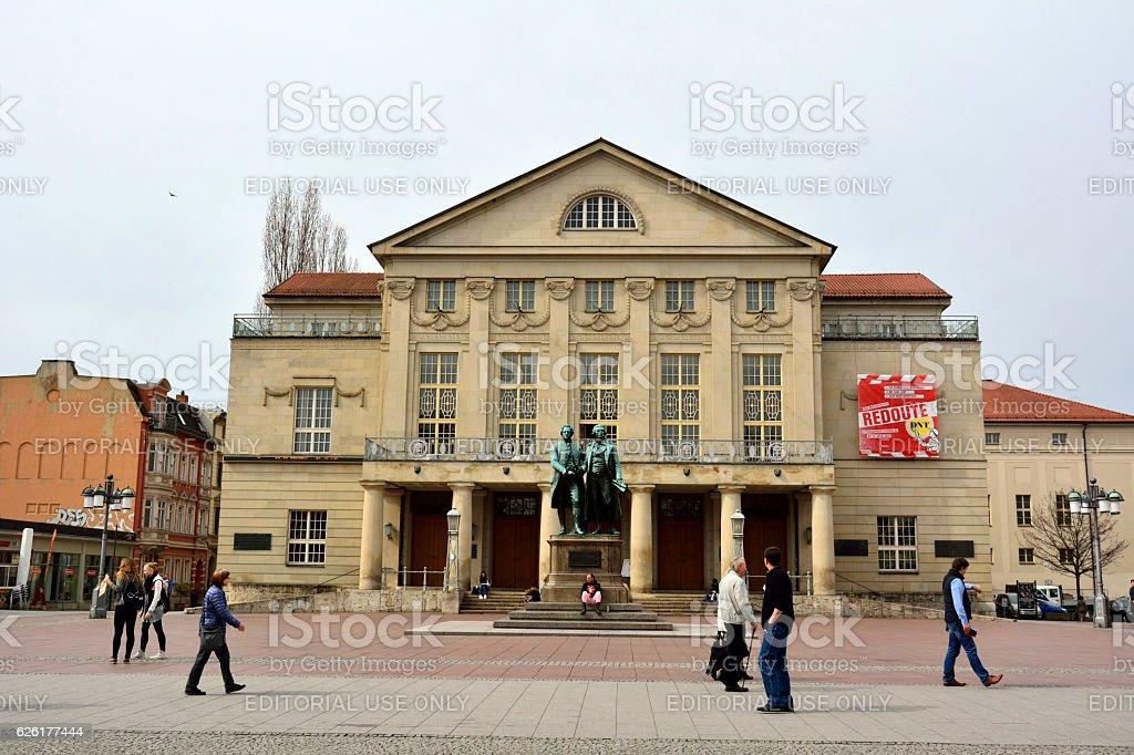 National Theatre (Deutsches Nationaltheater and Staatskapelle Weimar) building in Weimar stock photo