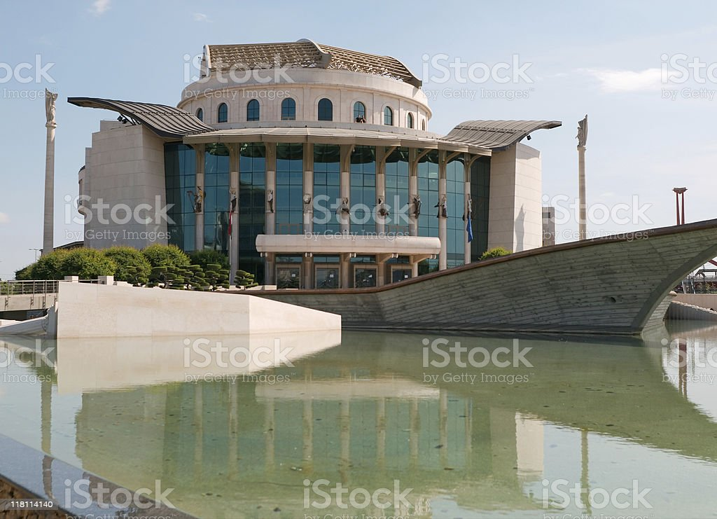 National theatre in Budapest royalty-free stock photo