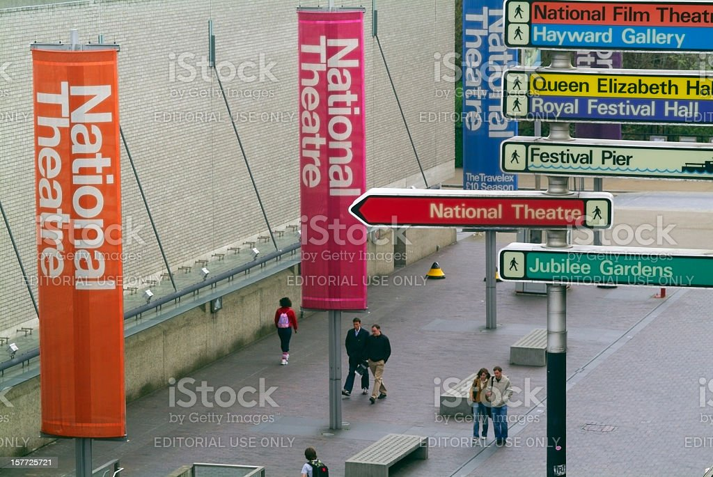 National Theatre, London - Cultural English landscape stock photo