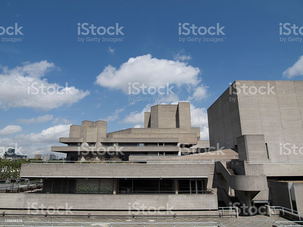 National Theatre, London stock photo