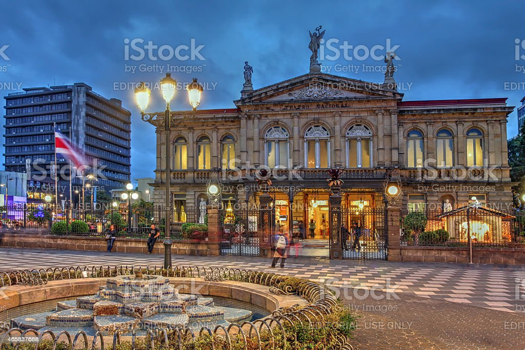 National Theatre of Costa Rica in San Jose stock photo