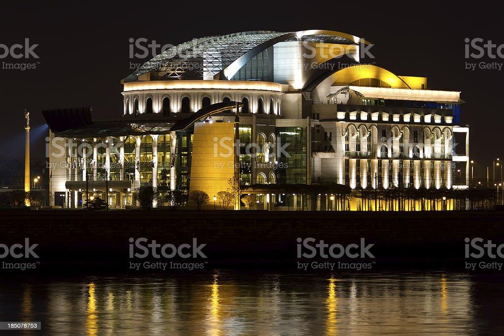 National Theatre (Budapest, Hungary) stock photo