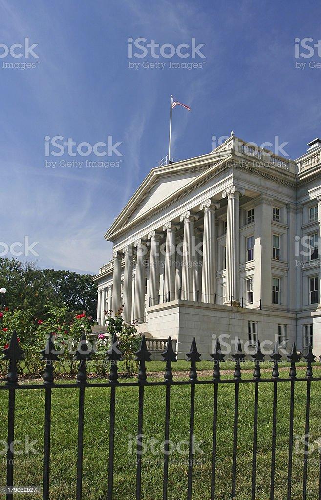 National Treasury building in Washington DC stock photo
