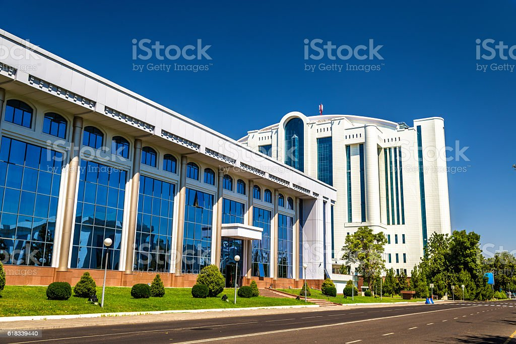National Treasury of Uzbekistan in Tashkent stock photo