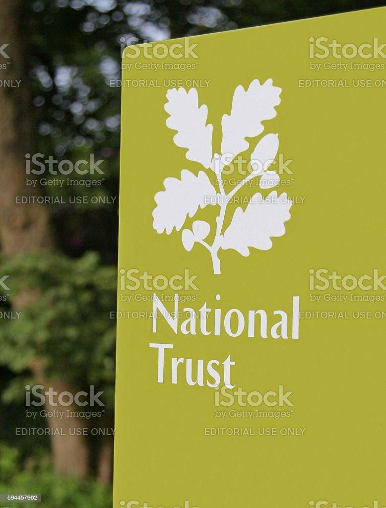 National Trust sign UK stock photo