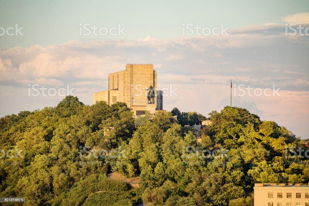 National Vitkov Monument in Prague stock photo