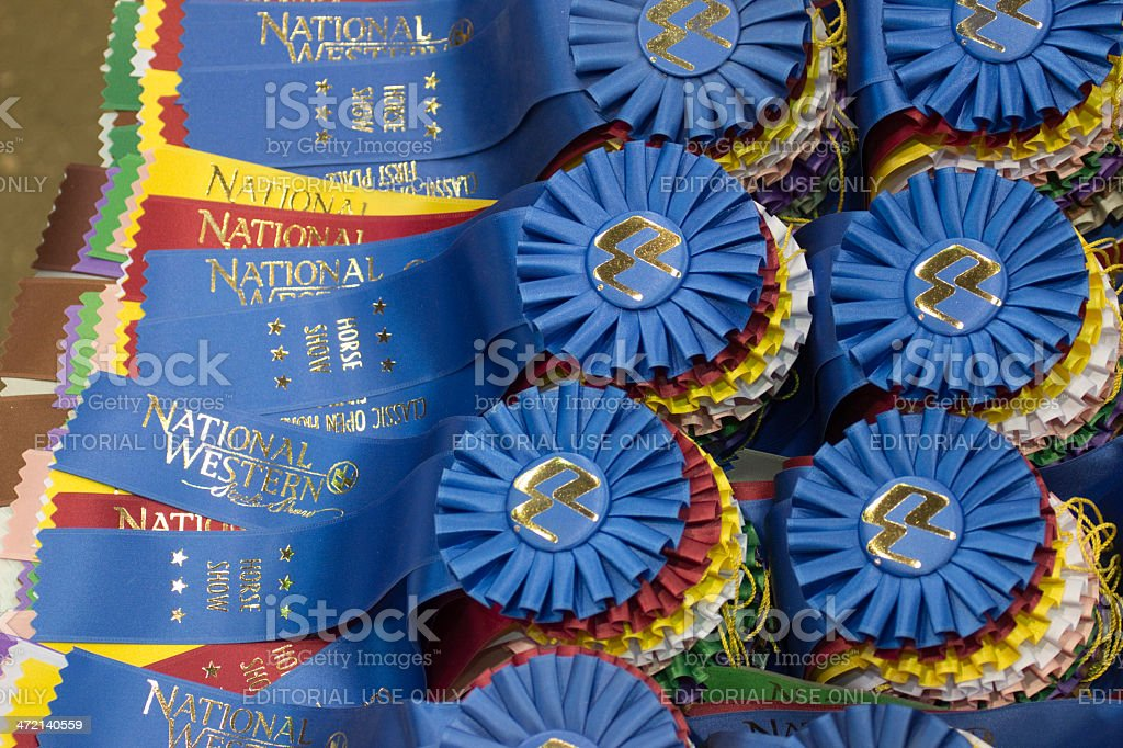 National Western Stock Show ribbons Colorado stock photo