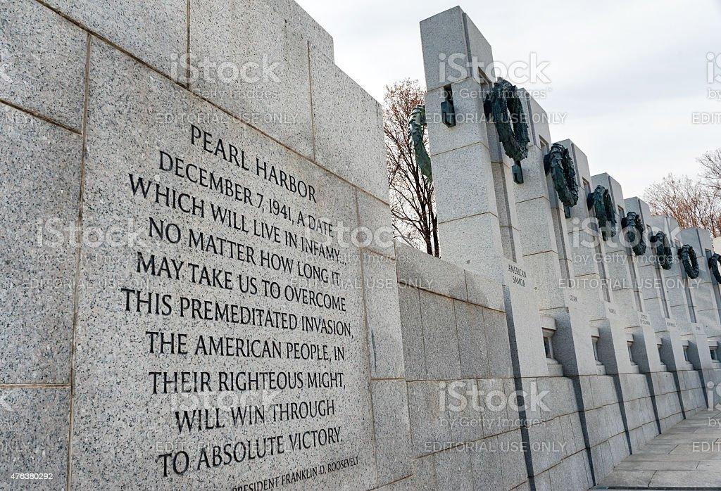 National World War II Memorial in Washington DC, daylight stock photo