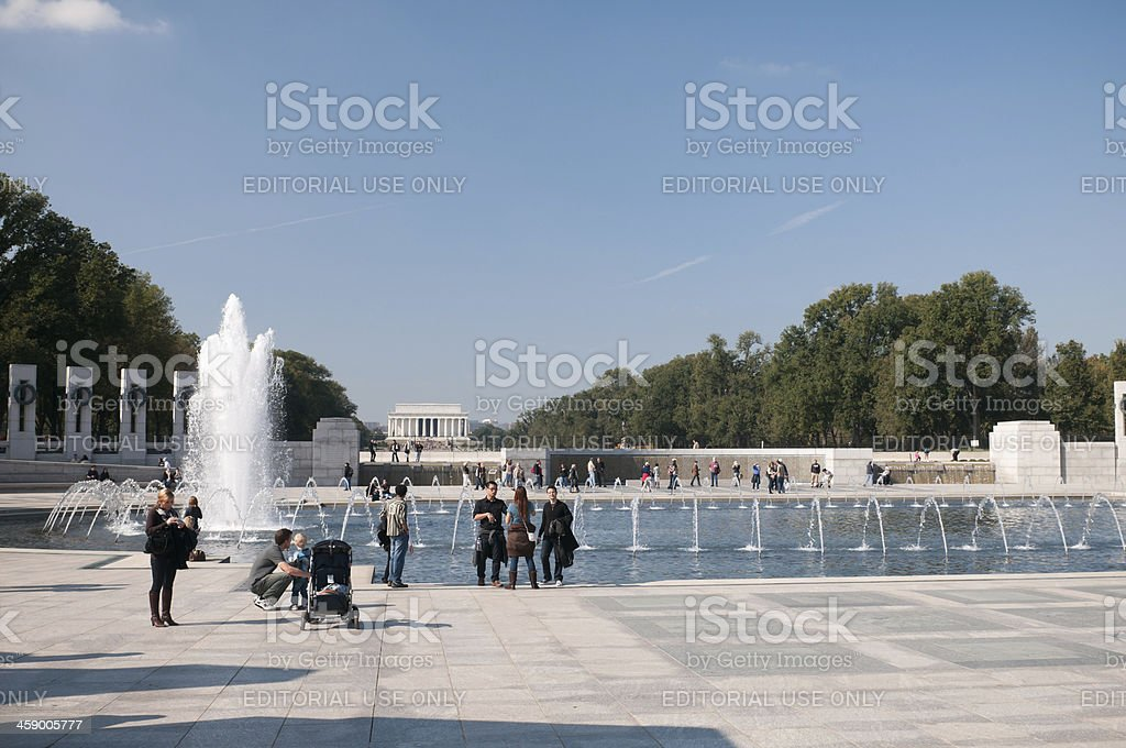 National World War II Memorial in Washington DC stock photo
