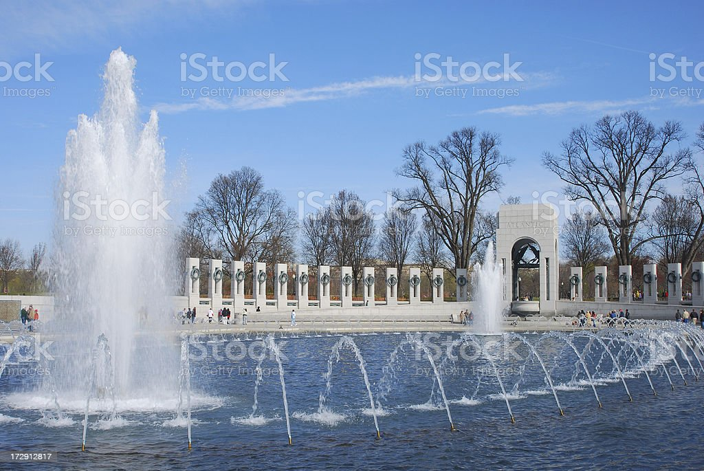 National World War II Memorial on a Clear Day royalty-free stock photo