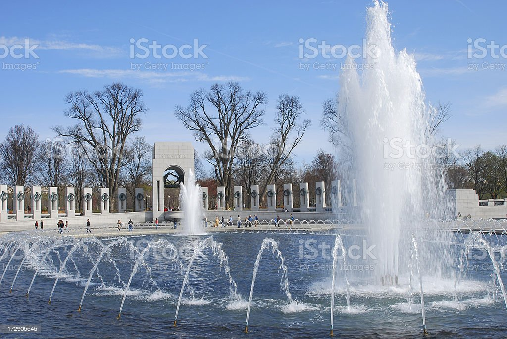 National World War II Memorial royalty-free stock photo