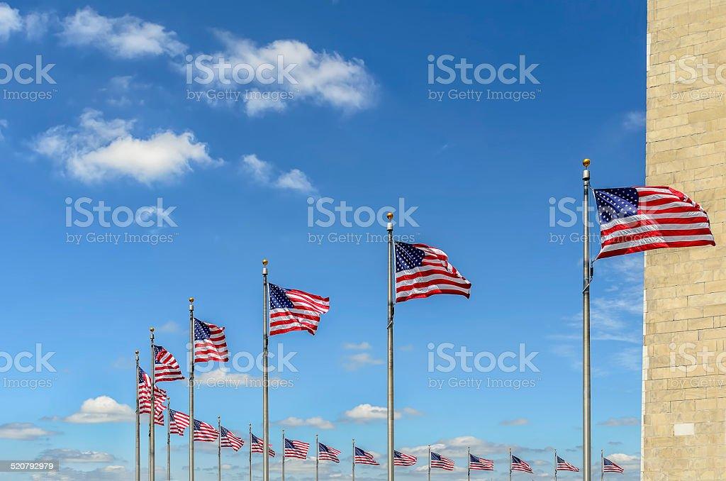 EUA nationnal flags foto royalty-free