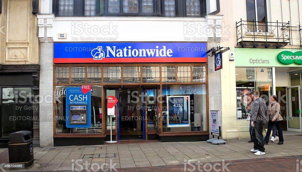 Nationwide Building Society in central Ipswich, Suffolk stock photo