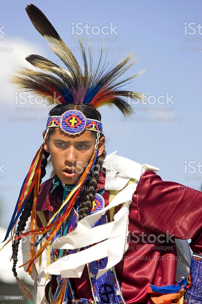 Native American dance. royalty-free stock photo