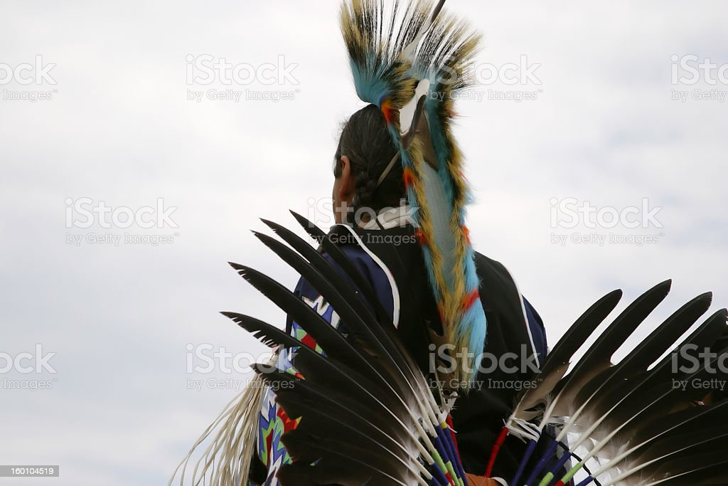 Native American dancer at Pow-wow stock photo