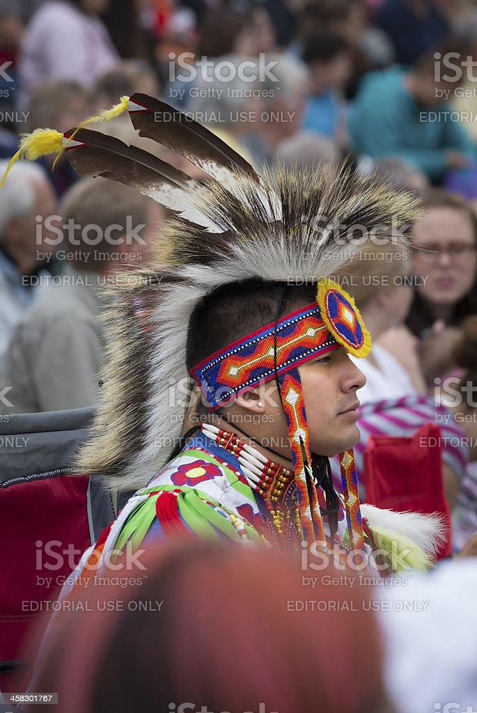 Native American Dancer royalty-free stock photo
