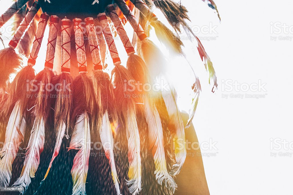 Native American headdress stock photo
