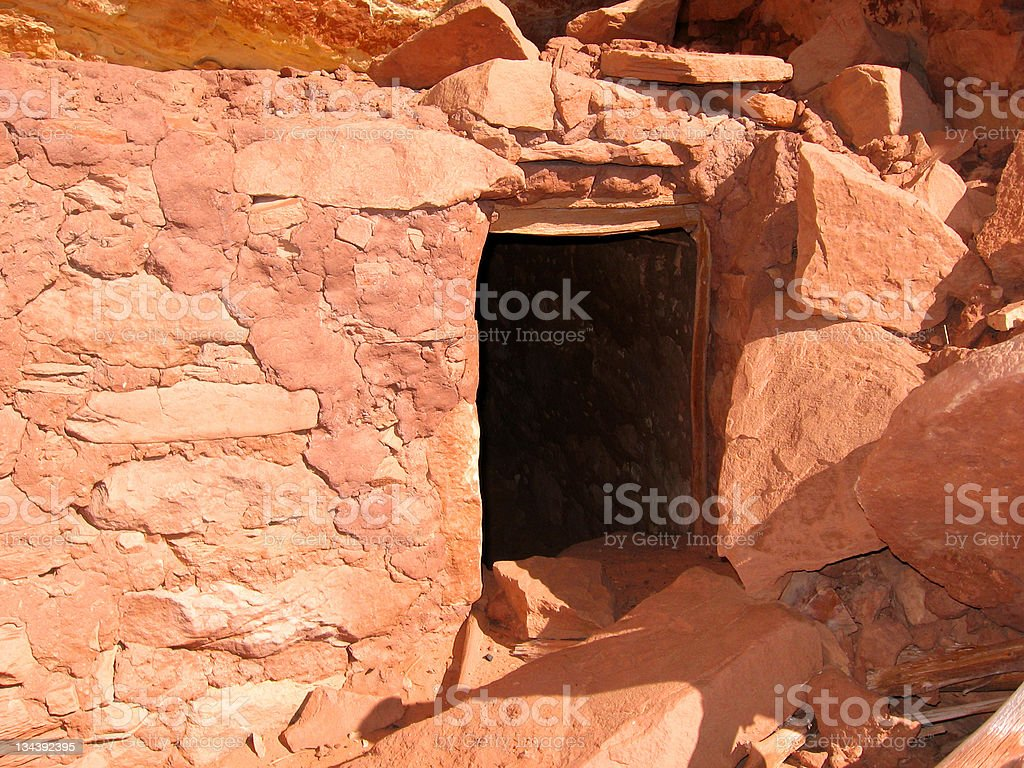 Native American Historic Anasazi Ruin royalty-free stock photo