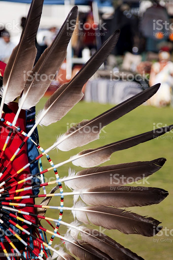 Native American Indian Bustle stock photo