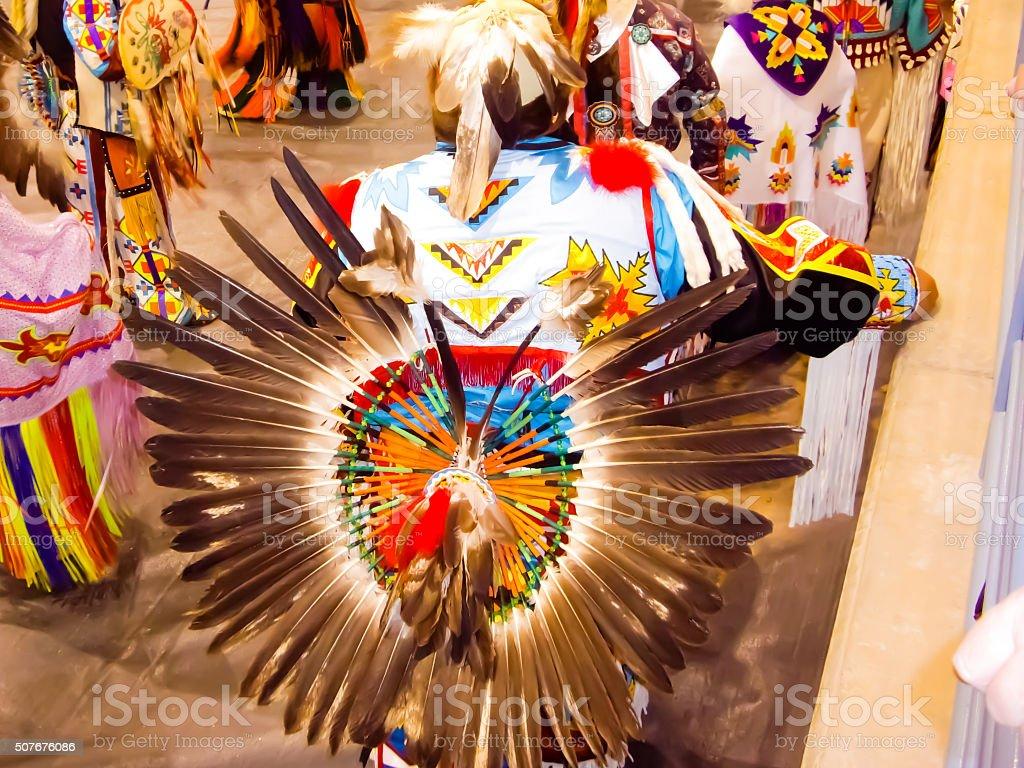 Native American Indian dancer stock photo