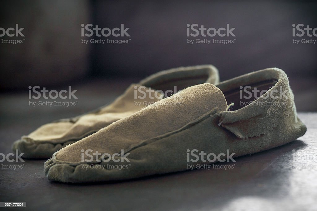 Native American Indian Moccasins stock photo