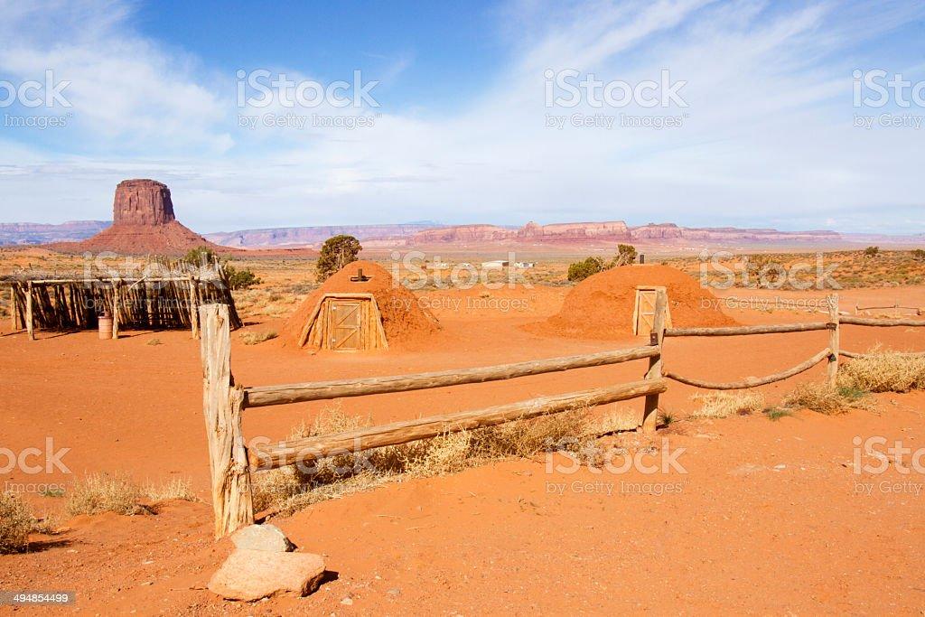 Native American Kivas royalty-free stock photo