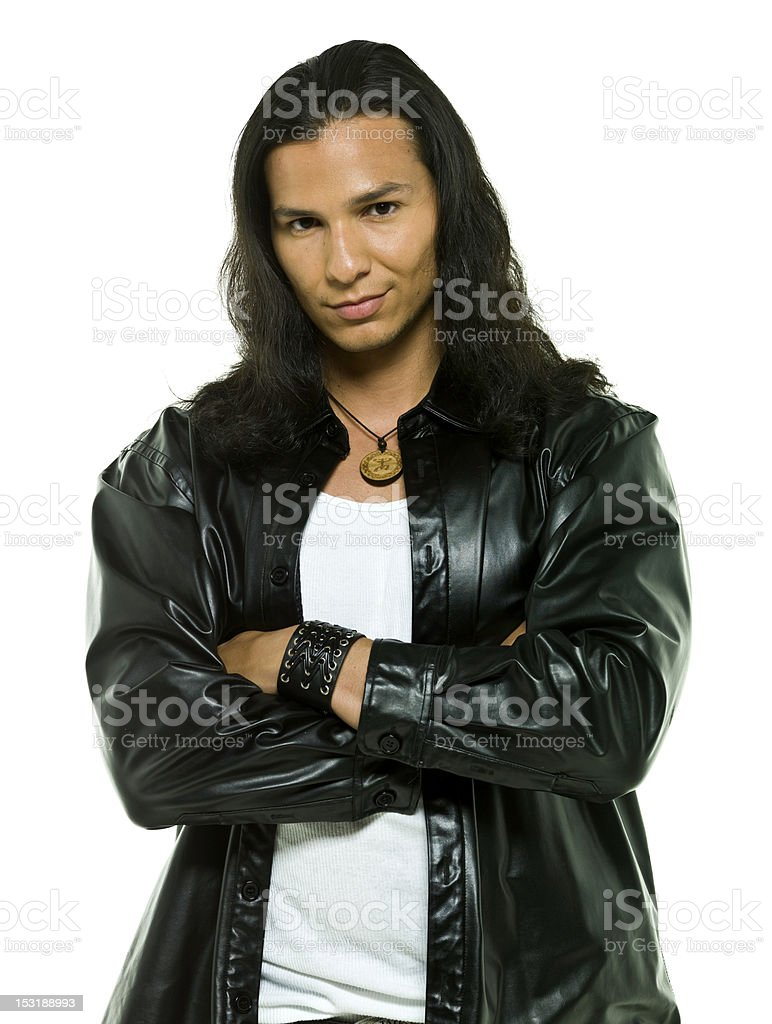 Native american male model stock photo