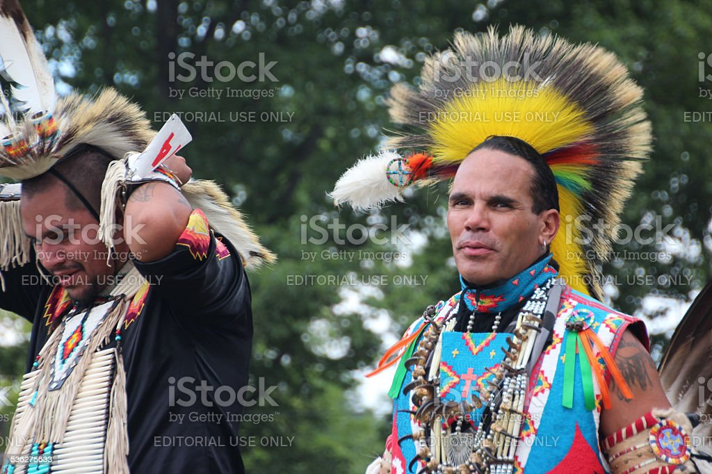 Native American Man at Pow-wow stock photo