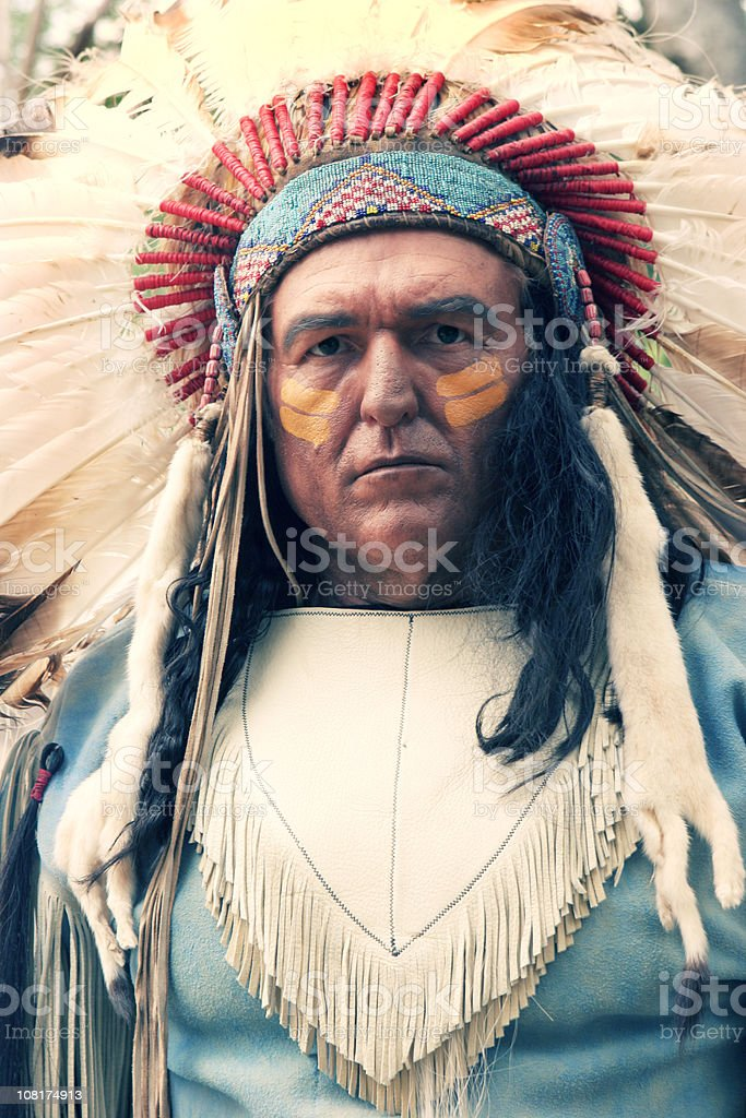 Native American Man stock photo