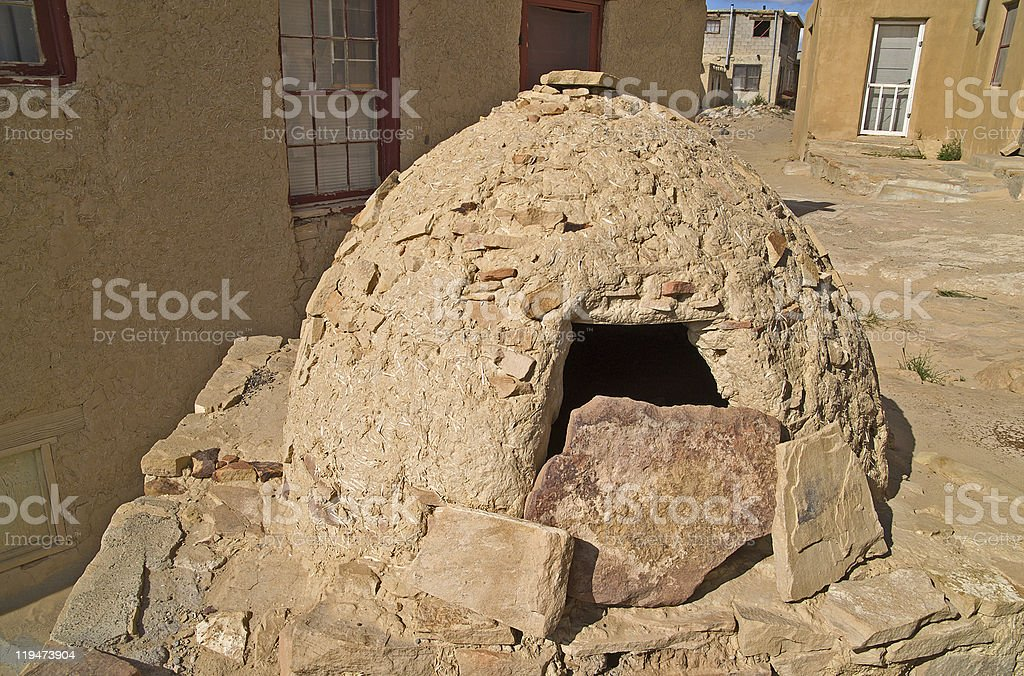 Native American Outdoor Oven royalty-free stock photo