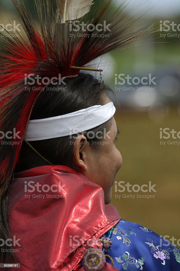 Native American Outlook royalty-free stock photo