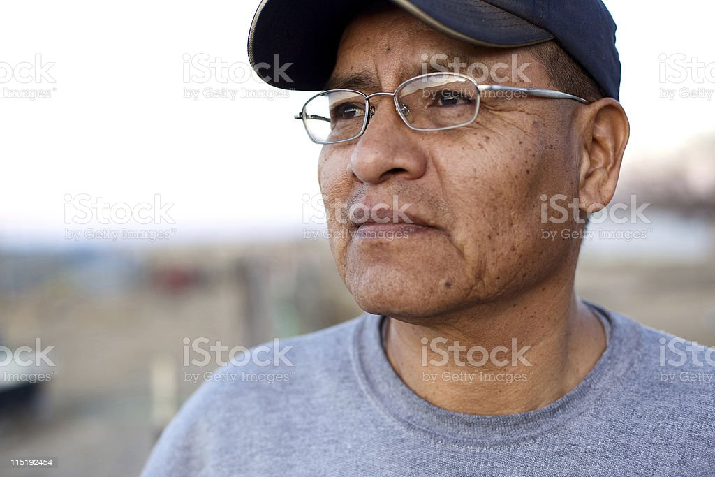 Native american people - Navajo male stock photo