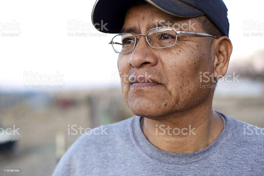 Native american people - Navajo male stock photo